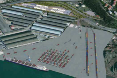 Logistics port area